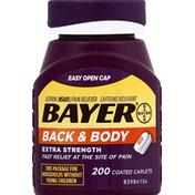Bayer Aspirin, Back & Body, 500 mg, Extra Strength, Coated Caplets