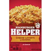 Hamburger Helper Pasta & Sauce Mix, Cheese Lover's Lasagna