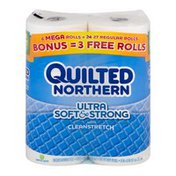 Quilted Northern Unscented Bathroom Tissue Ultra Soft & Strong with Cleanstretch - 6 CT