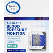 Signature Care Blood Pressure Monitor, Automatic, Wrist