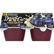 Lucky Leaf Dessert, On The Go, Blueberry Creme