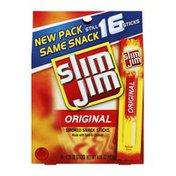 Slim Jim Smoked Snack Sticks, Original