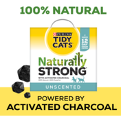 Purina Tidy Cats Unscented, Clumping, Natural Cat Litter, Naturally Strong Clay Multi Cat Litter