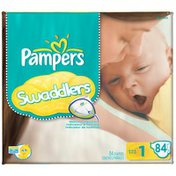 Pampers Swaddlers Big Pack Size 1 Diapers
