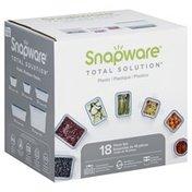 Snapware Food Storage, Plastic, 18 Piece