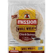Mission Tortilla Wraps, Chia & Quinoa, Whole Wheat+