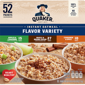 Quaker Instant Oatmeal, Flavor Variety, 52 Pack