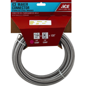 Ace Bakery Ice Maker Connector, Stainless Steel, Braided, 120 Inch