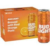 Bud Light Orange Beer Cans