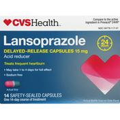 CVS Health Lansoprazole, 15 mg, Safety-Sealed Capsules