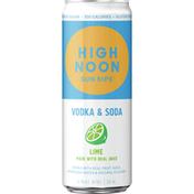 High Noon Lime Vodka Hard Seltzer