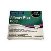 Best Choice Allergy Plus Cold Remedy Caplets