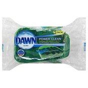 Dawn Scrubber Sponges, Premium Heavy Duty, Power Clean, 3 Pack!