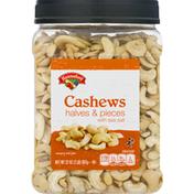 Hannaford Cashews, with Sea Salt, Halves & Pieces