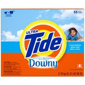 Tide Ultra Plus a Touch of Downy Powder Clean Breeze Scent Laundry Detergent