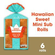 King's Hawaiian Original Hawaiian Sweet Mini Sub Rolls 6PK