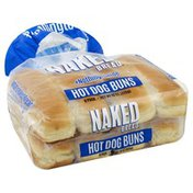 Naked Bread Hot Dog Buns, Naked Bread, 8 Pack