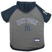 Pets First Medium New York Yankees Pet Baseball Hoodie T-Shirt