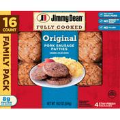 Jimmy Dean Pork Sausage Patties, Original, Family Pack