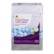Ahold 3-Ply Soft & Gentle Facial Tissue With Lotion  - 4 PK