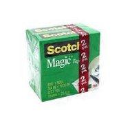 3M Scotch Tape 3/4 in x 1000 in, 2/pack