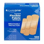 CareOne Flexible Fabric Bandages Assorted - 100 CT
