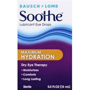 Bausch + Lomb Lubricant Eye Drops, Maximum Hydration