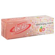 Vintage Sparkling Water, Pink Grapefruit, 12-Pack, Box