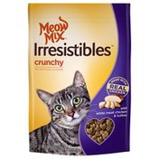 Meow Mix Irresistibles Crunchy White Meat Chicken & Turkey Cat Treats