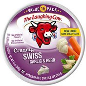 The Laughing Cow Light Garlic and Herb .75 oz Cheese