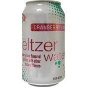 Hannaford Seltzer Water Cranberry Lime