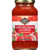 First Street Pasta Sauce, Tomato Basil & Garlic