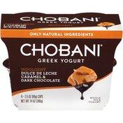 Chobani Indulgent Dulce de Leche Caramel & Dark Chocolate Whole Milk Greek Yogurt