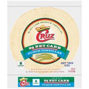 Cruz 9g Net Carb Soft Taco Size Flour Tortillas