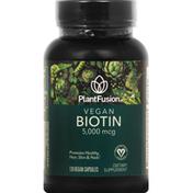 PlantFusion Biotin, Vegan, 5,000 mcg, Capsules