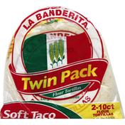 La Banderita Tortillas, Flour, Soft Taco, Twin Pack