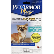 PetArmor Flea & Tick Medicine, Plus IGR, for Dogs, 6.5-22 lb