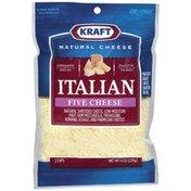 Kraft Italian Five Cheese Shredded Cheese