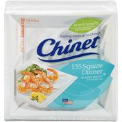 Chinet 9-1/2 Inch Square Dinner 9-1/2 Inch Square Dinner Plates