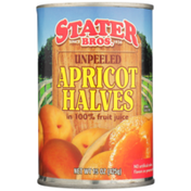 Stater Bros. Markets Unpeeled Apricot Halves In 100% Fruit Juice
