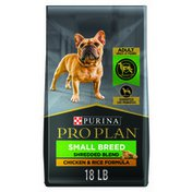 Purina Pro Plan Small Breed Dog Food With Probiotics for Dogs, Shredded Blend Chicken & Rice Formula