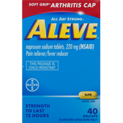 Aleve Pain Reliever/Fever Reducer, 220 mg, Gelcaps