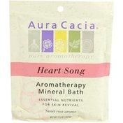 Aura Cacia Heart Song Aromatherapy Mineral Bath, Sweet Rose Aroma