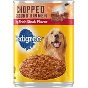 Pedigree Chopped Ground Dinner Top Sirloin Steak Flavor Dog Food