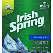 Irish Spring Deodorant Soap, Icy Blast