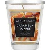 Aromascape Candle, Soy Wax Blend, Caramel +Toffee
