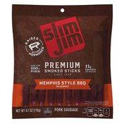 Slim Jim Memphis Style Barbeque Premium Smoked Snack Sticks