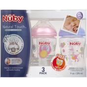 Nûby Bottles, Infant, 0M+