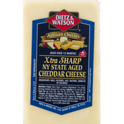 Dietz & Watson Cheese, Xtra Sharp Cheddar, NY State Aged