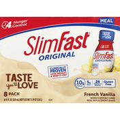 SlimFast Meal Replacement Shake, French Vanilla, 8 Pack